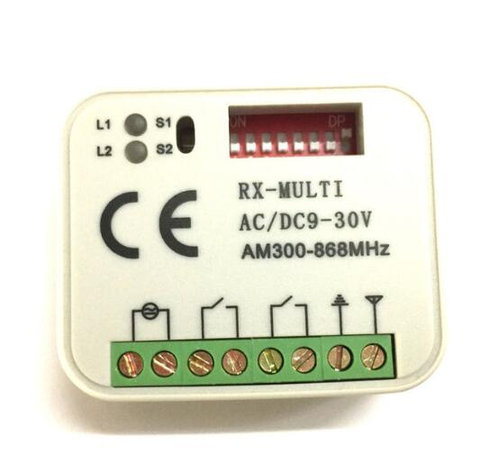 5pcs FOR Chanmberlain liftmaster remote control receiver 315mhz 390mhz 433mhz free shipping free shipping dc12v 433mhz metal