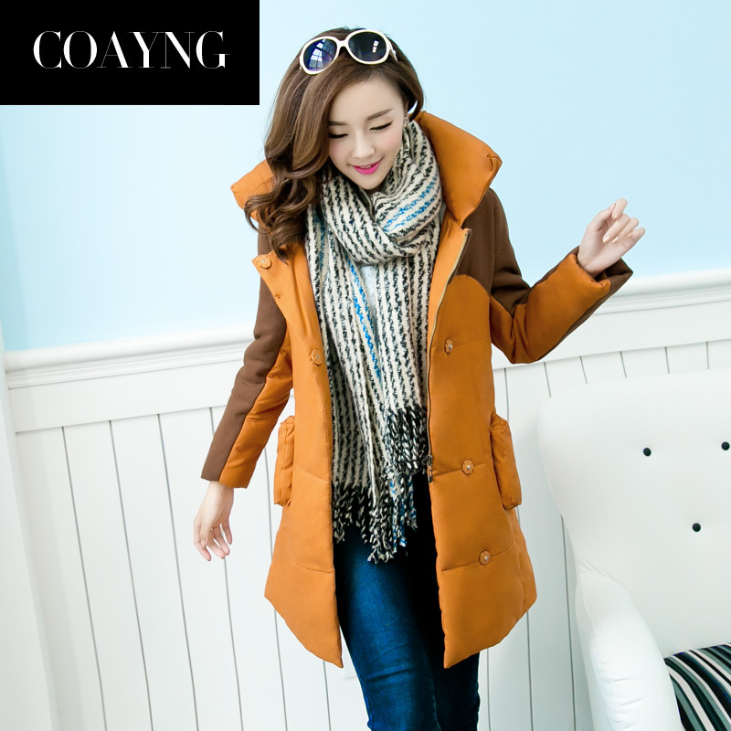 2013 New Designer Fashion Winter Thick Warm Overcoat Long Plus Size Mandarin Collar LambS Wool Padded Stitching Jacket H1656