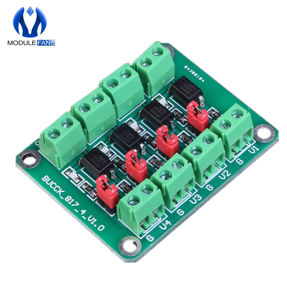 4-Channel Optocoupler Adapter-Module Isolation-Board Voltage-Converter PC817 Driver Photoelectric