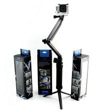 Gopro Acción Accesorios de La Cámara Autofoto Sticks 3 Vías de Extensión Brazo Monopie Trípode para Go Pro Hero 4 3 + 2 SJ4000 SJCAM Yi xiao millas