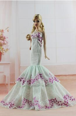case for Barbie doll clothes princess clothing accessories apparel trade wedding dress big skirt wear
