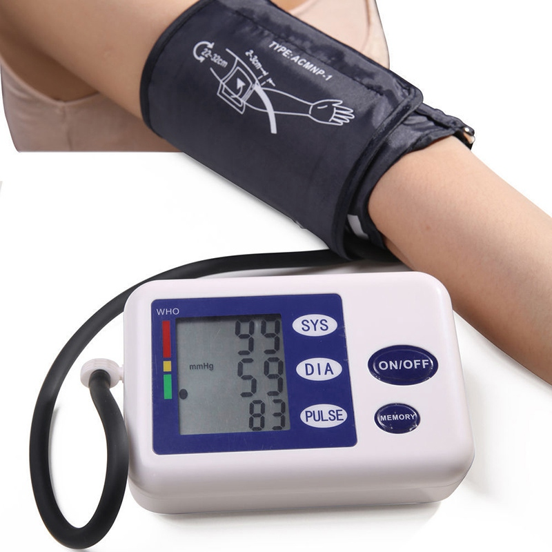 New Digital Arm Blood Pressure Pulse Monitors Portable Health Care Monitor Automatic Sphygmomanometer Blood Pressure
