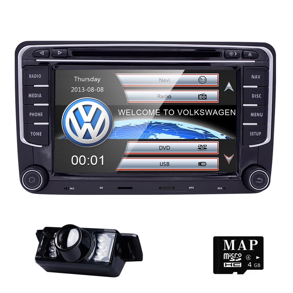 7 2Din CAR DVD GPS Navi Speler for VW Passat B6cc Skoda Octavia 2 golf 5 Polo Tiguan Jetta T5 Transporter amarak Seat AutoRadio лонгслив printio winston