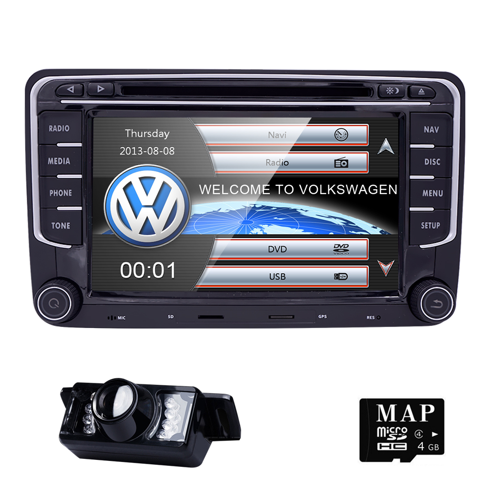7 2Din VOITURE DVD GPS Navi Speler pour VW Passat B6cc Skoda Octavia 2 de golf 5 Polo Tiguan Jetta T5 Transporter amarak Siège AutoRadio