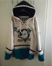 0ebf2c01c Hockey Hoodies Jersey Anaheim Mighty Ducks Kariya Jersey Pullover Hoodie  Stitched ,Customize Any Name&Number(