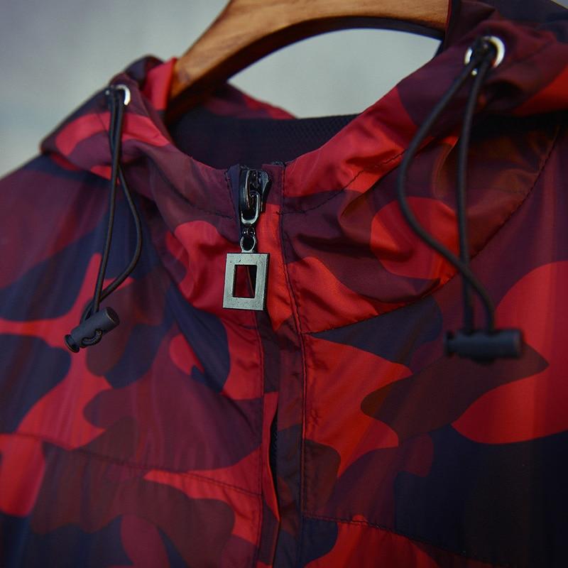 201 bahar Avrupa ve Amerikan retro sokak rüzgar kırmızı kamuflaj - Erkek Giyim - Fotoğraf 3