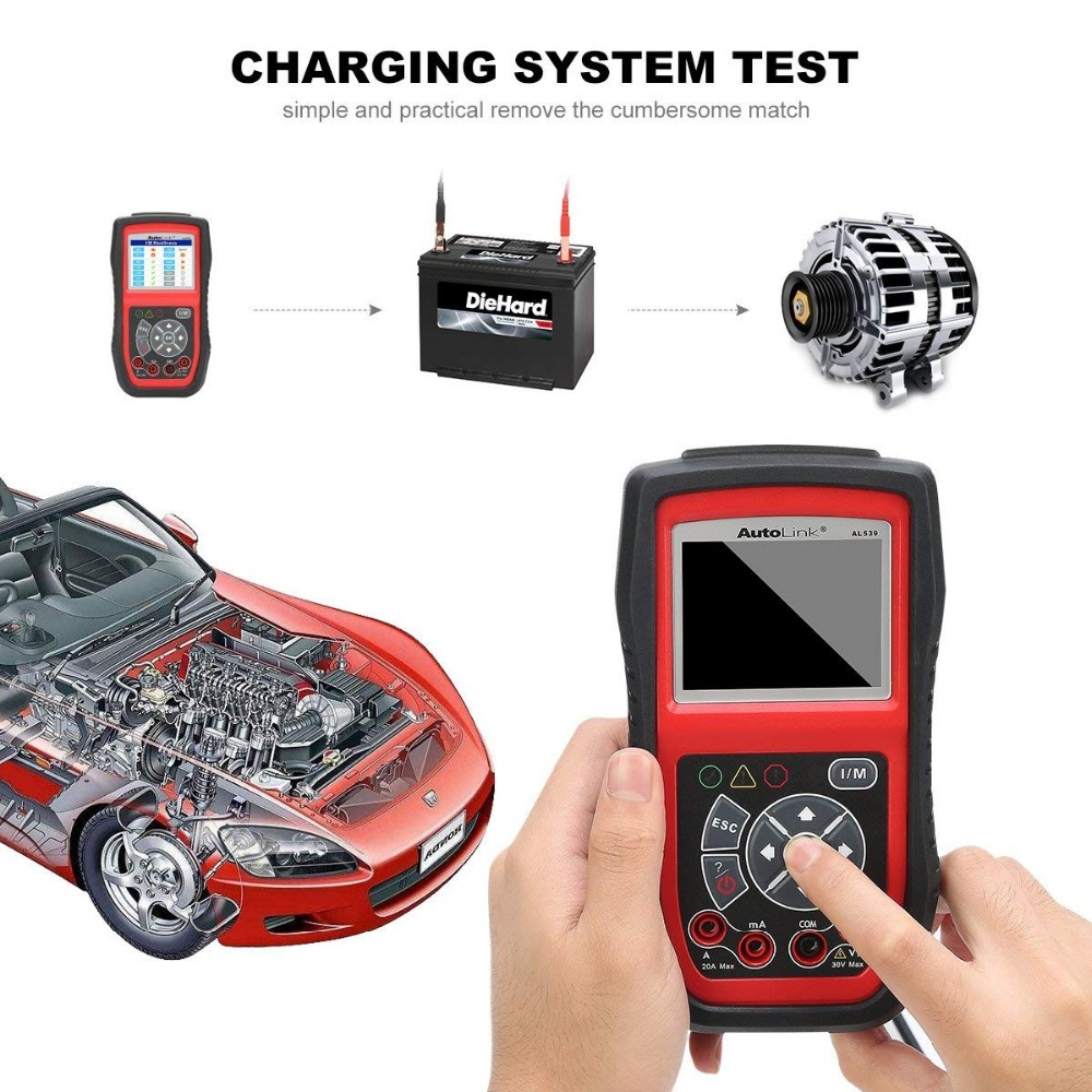 Image 5 - Autel AL539 OBDII Code Reader OBD Car Scanner Electrical Tester AL 539 12V Autel AL539B AVO Meter Battery Tester Diagnostic Tool-in Code Readers & Scan Tools from Automobiles & Motorcycles