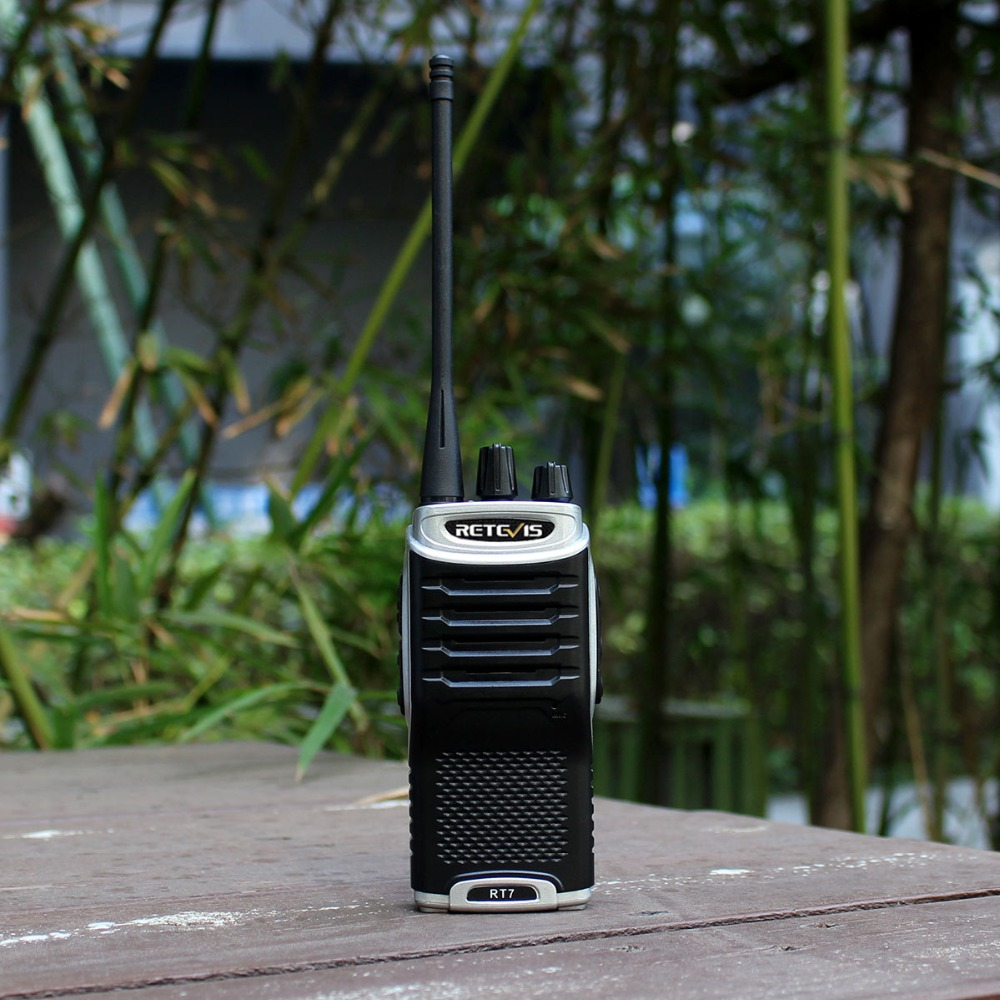 1pc Retevis RT7 Walkie Talkie 5W 16CH UHF Band FM Radio Station Handheld Transceiver Walkie-Talkie Walky Talky Professional