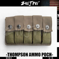 WW2 WWII US Army Military Thompson MG Ammo Pouches 1942 Magazine Pouch Webbing Replicas For Sale