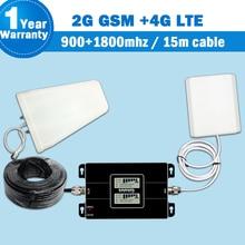 2018 Lintratek GSM 900 4G DCS/LTE 1800 Mobile Signal Booster Dual Displays 2G 900MHz   FDD DCS 1800 Band 3 Repetidor Celular S41
