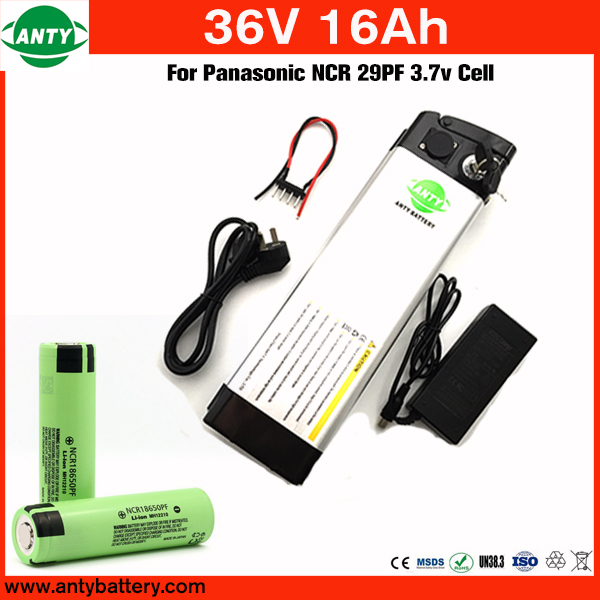 E Bike Battery 36v 16Ah 800w For Panasonic NCR 29PF Cell With 42v 2A Charger,Built in 30A BMS Lithium Battery 36v Free Shipping free customs taxe 36v 1000w triangle e bike battery 36v 40ah lithium ion battery pack with 30a bms charger for panasonic cell