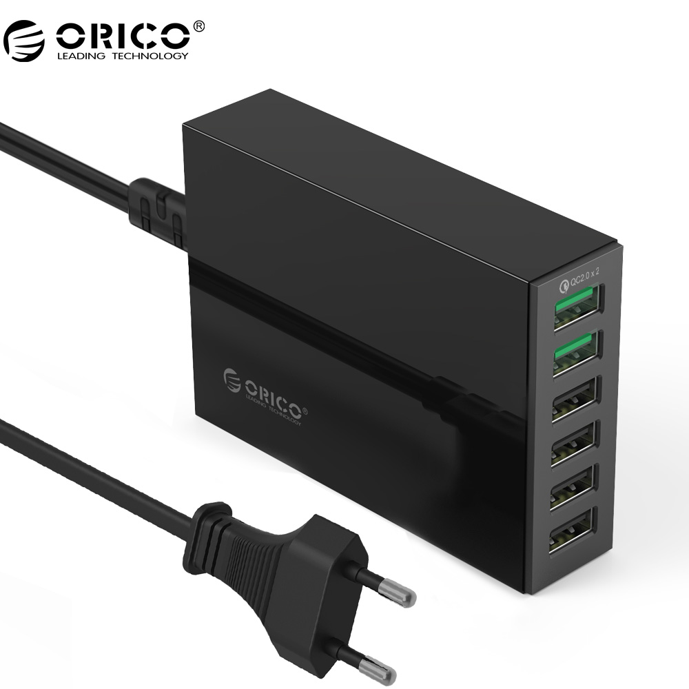 ORICO QSL 2 Ports QC 2,0 Schnelle Ladegerät Mit 4 Ports 5V2. 4A 50 Watt Max Ausgangs Handy Usb-ladegerät