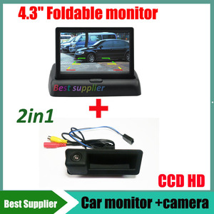 CCD car rear view camera for BMW 3 Series 5 Series X6 X5 X1 X6 E39 E46 E53 E82 E88 E84 E90 E91 E92 E93 E60 E61 E70 E71 + monitor(China)