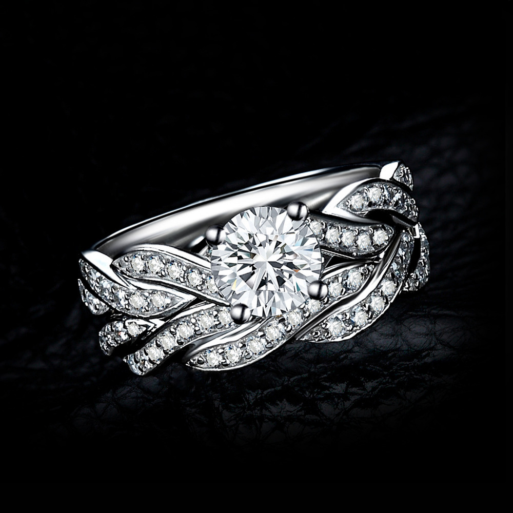 Image 2 - JPalace Infinity Engagement Ring Set 925 Sterling Silver Rings  for Women Anniversary Wedding Rings Bridal Set Silver 925 Jewelry925  sterling silverwedding bandsterling silver