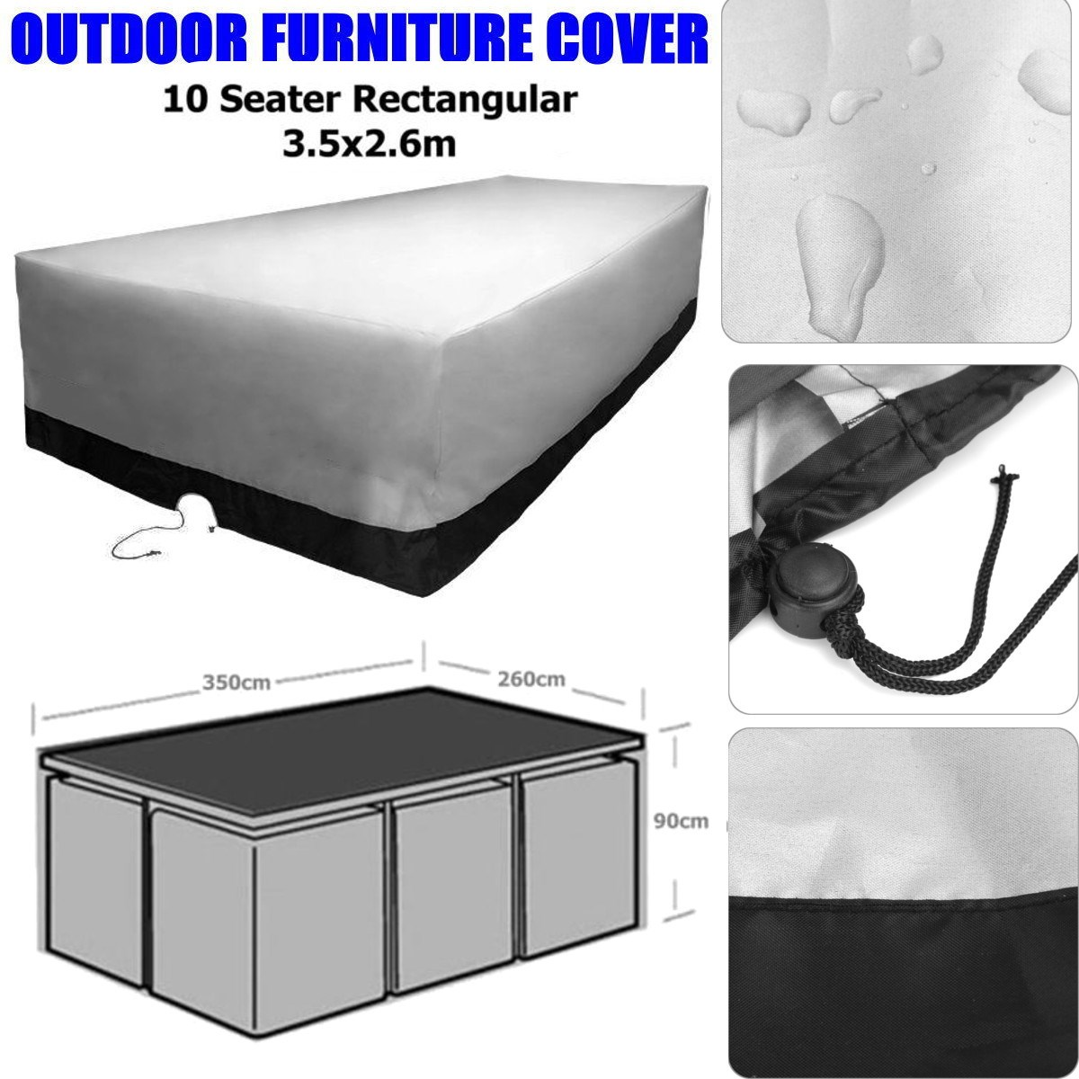 Online get cheap 10 seater table aliexpresscom alibaba for Uv patio furniture covers