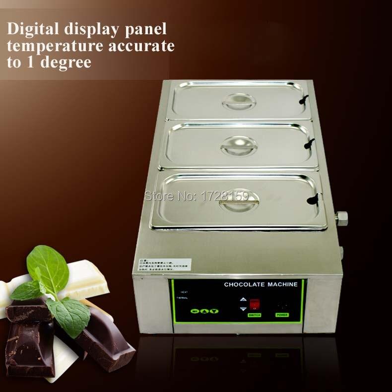 En kaliteli 12kgs kapasiteli Paslanmaz çelik ticari çikolata eritme potası, elektrikli çikolata eritme potası
