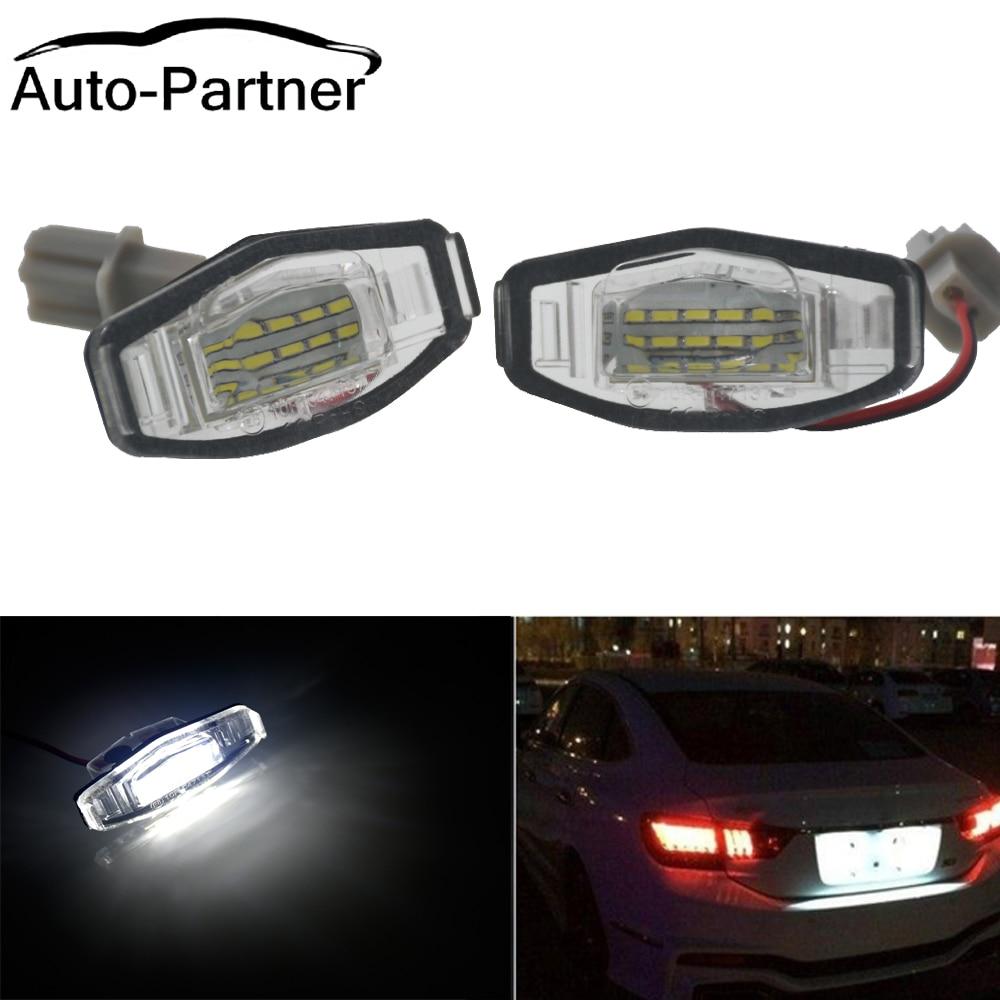 2 Pcs 18 LED Luzes Da Placa de Licença Número Da Lâmpada Para Honda Accord Civic Odyssey para Acura TSX 01-05