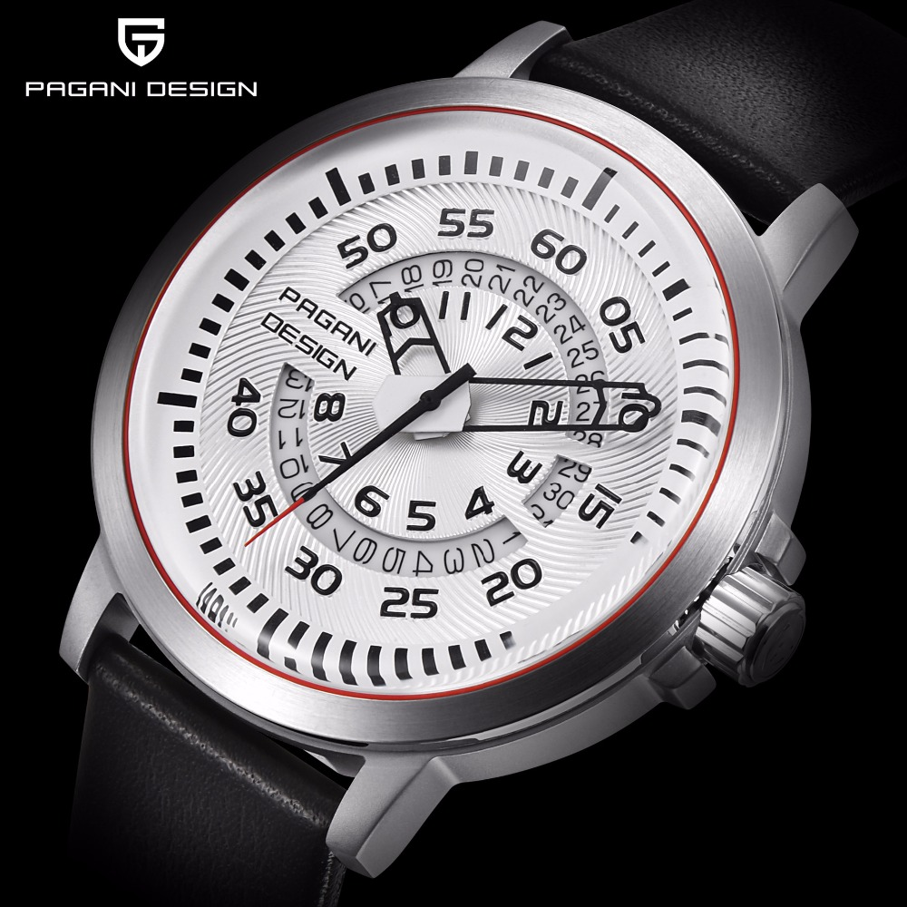 Pagani Design Sport Mens Watches Top Brand Luxury Casual Leather Multifunction Waterproof Quartz Watch Men Clock relogio masculi pagani design mens watch fashion luxury brand clock male casual sport wristwatch men pirate skull style quartz watch reloj hombe
