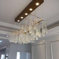 Français post-Moderne lustre En Cristal éclairage pour la Cuisine salle à manger Hôtel éclairage À La Maison Rétro Arte Conception Café lustres de cristal
