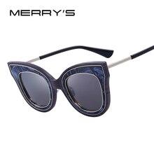 Merry's модные Солнцезащитные очки Для женщин Брендовая Дизайнерская обувь личности преувеличены кошачий глаз Защита от солнца Очки оттенки женский s'8080