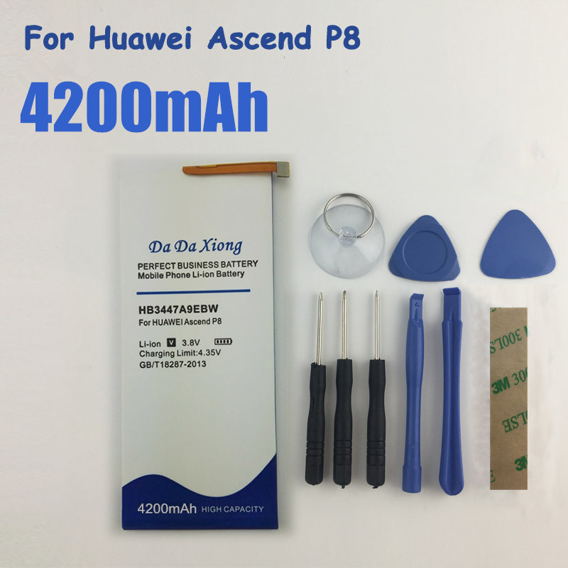 4200mAh HB3447A9EBW Battery For Huawei Ascend P8 Mobile Phones