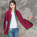 Fashion Cotton Winter Scarves Women Embroidery Designer National Scarves Femme Casual Fall Shawl