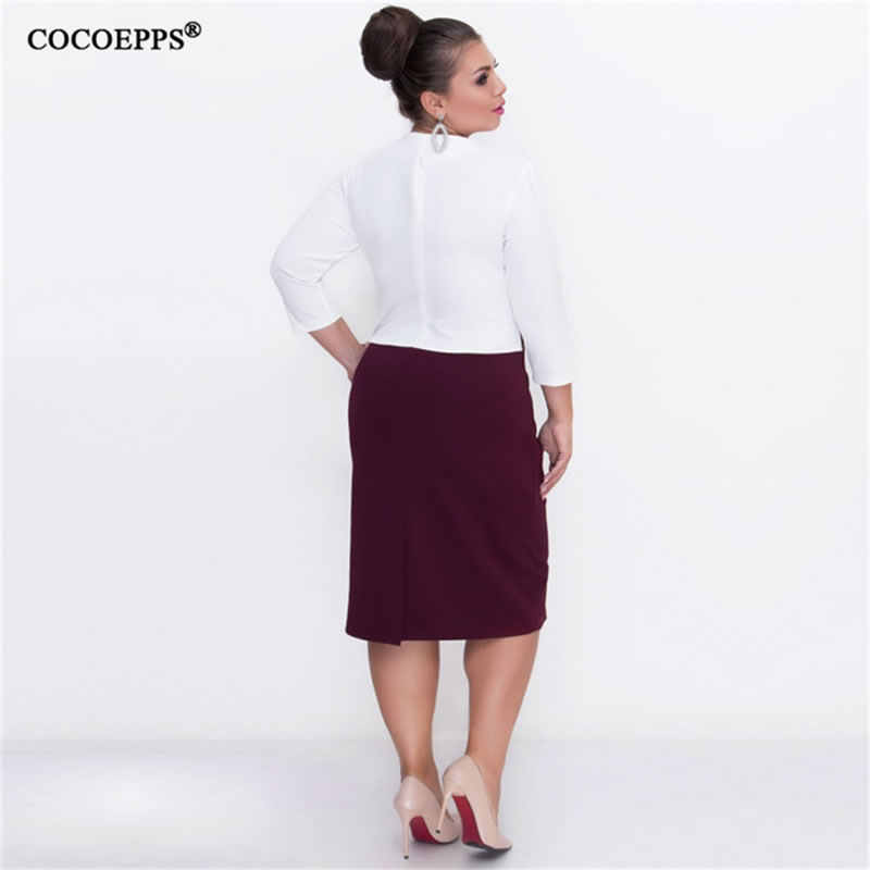 COCOEPPS, большой размер, кружевное женское осеннее облегающее платье, большой размер, пэчворк, зимние офисные повседневные платья, 6XL размера плюс, Vestidos