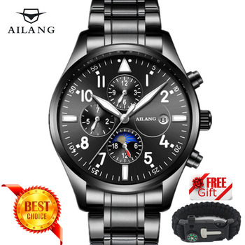 Berühmte Luxus Marke Mode Automatische Mechanische Uhr Männer edelstahl Wasserdicht Kalender Sport Armbanduhr Uhren Hombre