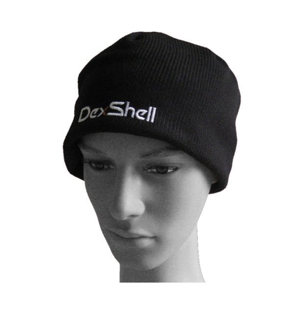 Black Uniforms Outdoor Sports Beanie Hat Waterproof + Windproof + Breathable + Warm protection + Coolvent lite Dexshell DH332