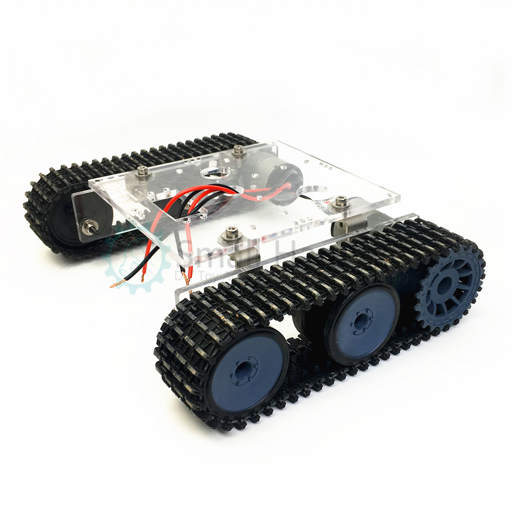 Réservoir acrylique robot châssis DC9-12V véhicule sur chenilles bricolage kit arduino