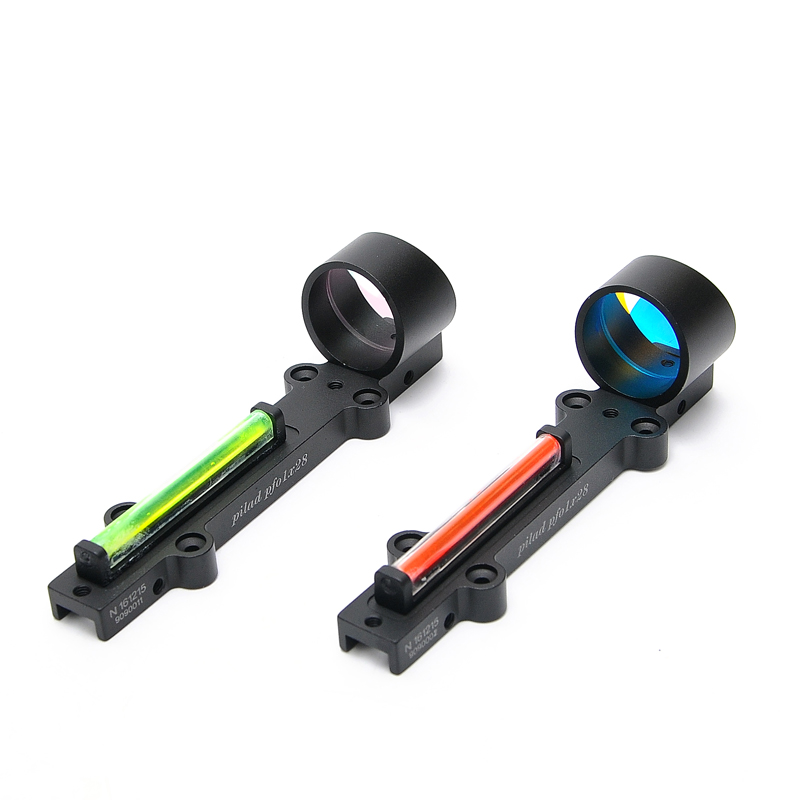Image 2 - New Lightweight Red and Green Fiber 1x28 Red Dot Sight Hunting Scope Fit Shotguns Rib Rail Hunting Shooting-in Riflescopes from Sports & Entertainment