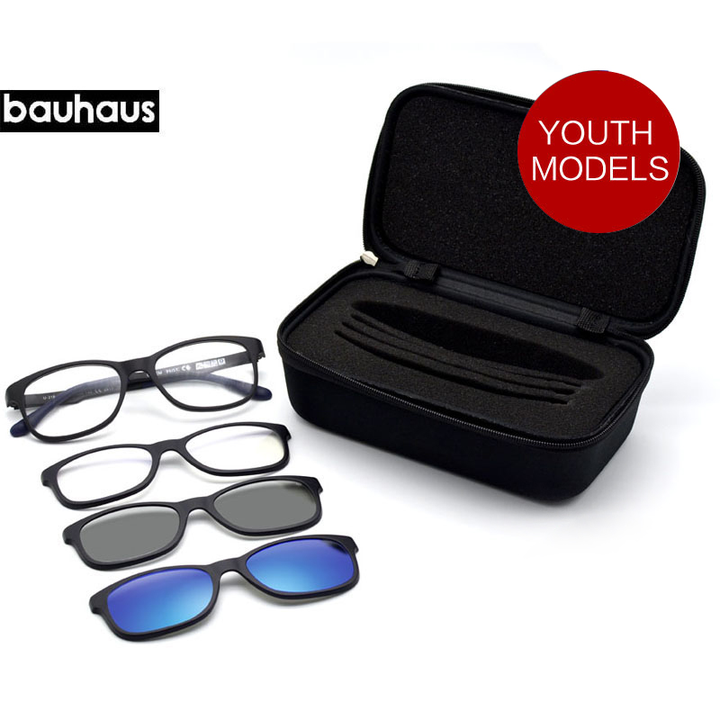 Bauhaus italy ultem light magnet clip sunglasses polarized for Bauhaus italia