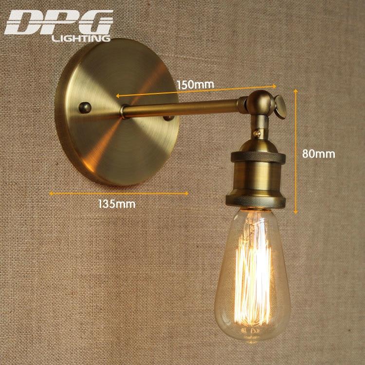 Divarlı çıraq lampası Loft Antik yelləncək Uzun qol işıqları - Daxili işıqlandırma - Fotoqrafiya 2
