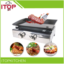 ITOP Gas Griddle BBQ Grill  520*340mm Cooking Area Barbecue StoveEnamel Cooking Plate