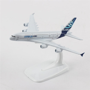 TAIHONGYU 16cm Airbus A380 Airplane Model w/Stand Collections Metal Diecast Toys Gift for Children