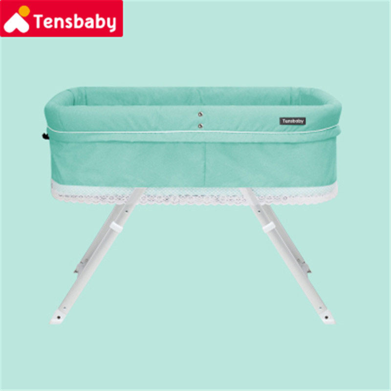 2018 Multifunctional Folding Baby Bed Infant Cradle New Born Bed Portable Baby Cot With Mosquito Net