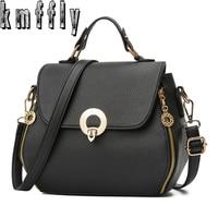 KMFFLY 2018 Brand Pu Leather Messenger Bag Women Handbags Luxury Handbags Women Famous Brand Designer Bag
