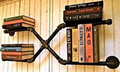LOFT AMERICAN COUNTRY STYLE FURNITURE, WROUGHT IRON WALL SHELF BOOKCASE SHELF ART EXHIBITION SHELF WATER SEPARATOR-Z27