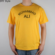PXH OOA WILL SMITH MUHAMMAD ALI short sleeve T-shirt Top Lycra Cotton Men T shirt New DIY Style