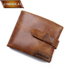 цена на 2017 Wallet Vintage Genuine Leather Men Wallets Zipper Coin Purse Short Men's Purse Male Card Holder Men Wallet Pocket Carteira