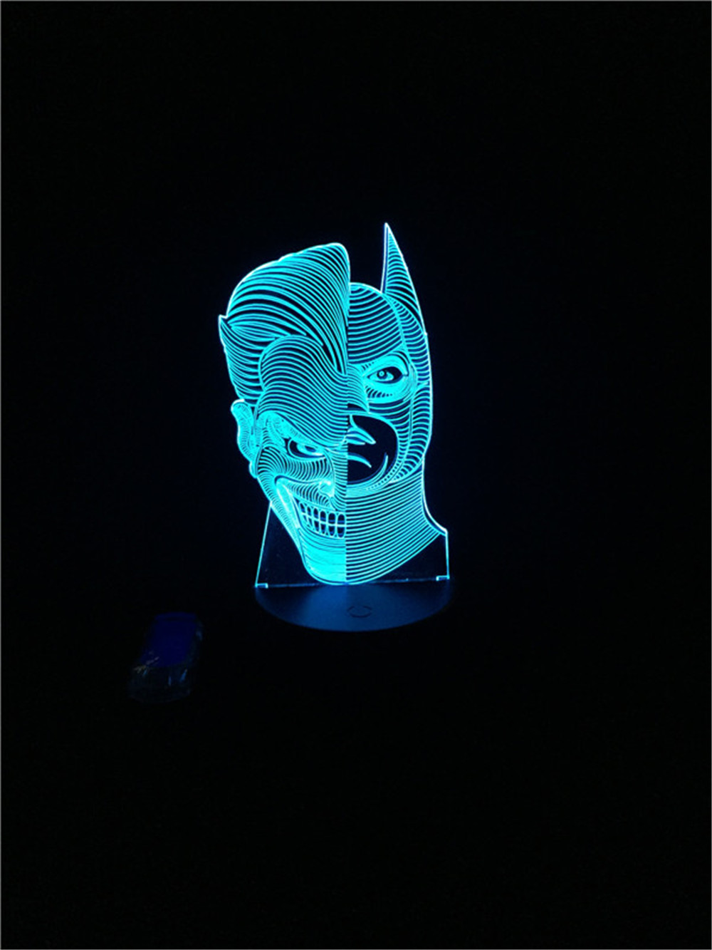 Luzes da Noite legal 3d superhero two-face joker Function 4 : Lampada Led/lamparas/led Lamp Indoor