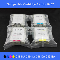 INK WAY Free Shipping 4 Pack Ink Set use for HP10 82 C4844A C4911A C4912A C4913A for HP 500 500ps 800 800ps etc.