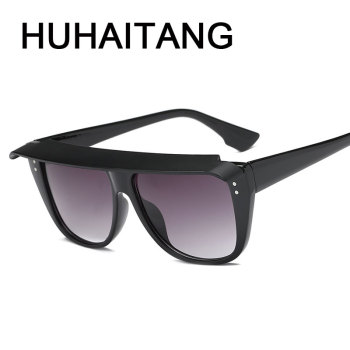 HUHAITANG Luxury Folding Oversized Sunglasses Women Rivets Sunglass Men Vintage Square Sun Glasses For Woman Brand Designer 1