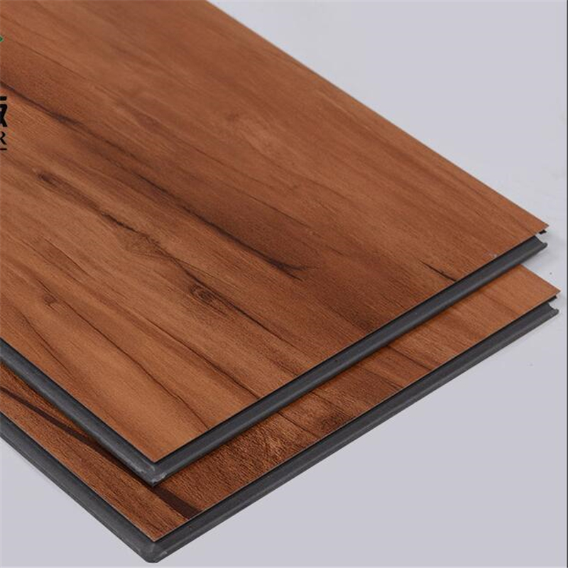 new PVC lock floor wood grain free plastic stone plastic spc floor leather thick wear-resistant waterproof household warm wood wood grain flannel skid resistant rug