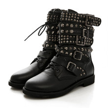 Studded combat boots online shopping-the world largest studded