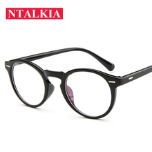 2018 Fashion Women Glasses Frame Men Eyeglasses Vintage Round Clear Lens Optical Spectacle