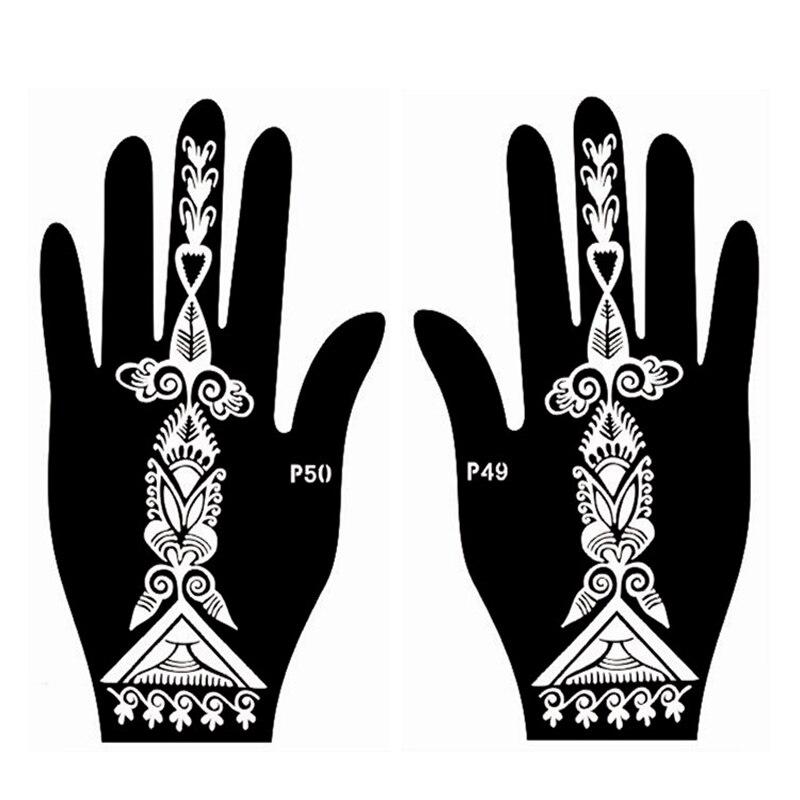 4pcs facile femmes pochoir de tatouage au henné, pochoir - Tatouages et art corporel - Photo 3