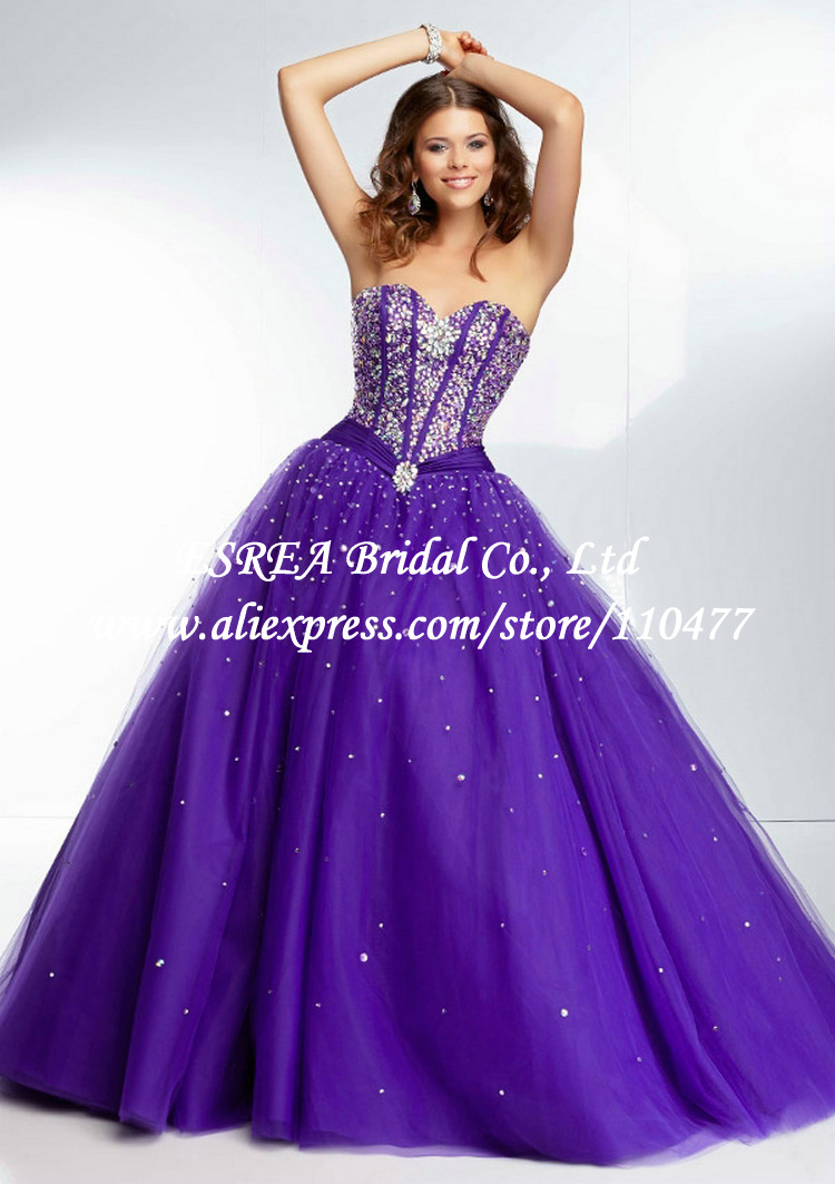 White and purple quinceanera dresses 2019