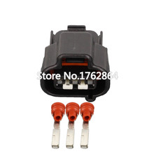 10 Sets 3 pin  Automotive Connector Car Plug 3P Black Sheath DJ7036FA-2.2-21