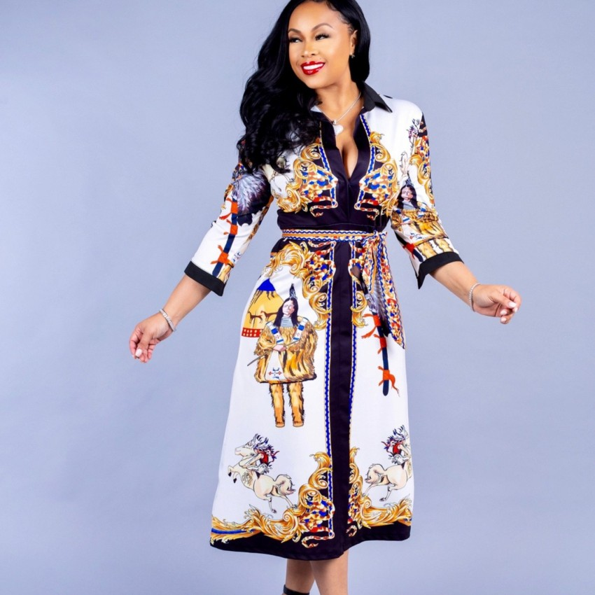 African Dresses For Women Robe Africaine 2019 New Style African Women Clothing Dashiki Fashion Print Cloth Dress Africa Clothing